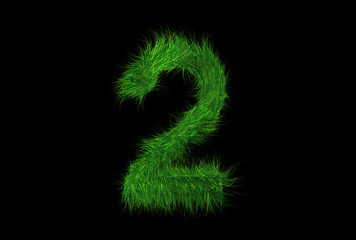 Grüne Nummer 2