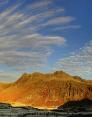 Dramatic clouds & Langdale Pikes, English Lake District