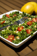 Tabouli Salad with Fork