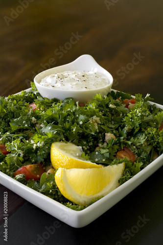 Tabbouleh Salad with Dip