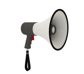 Isolated megaphone on white background