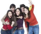 association bénévole de jeunes heureux poster