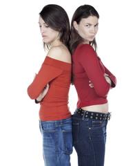 femmes dos a dos fachée dispute