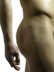 männlicher po in seitenansicht