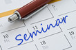 Leinwanddruck Bild - Kalendereintrag Seminar