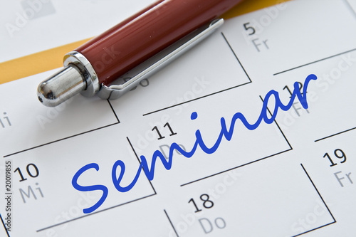 Leinwanddruck Bild Kalendereintrag Seminar