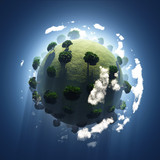 green planet from space
