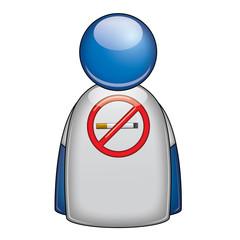 Icono camiseta contra tabaco