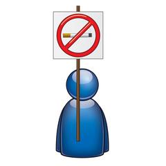 Icono manifestante antitabaco