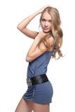 beautiful blonde european girl poster