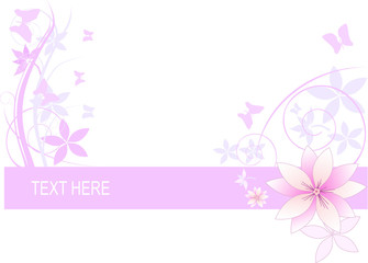 Flowers background with place for text