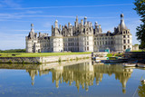 Chateau Chambord. Panoramic vedere