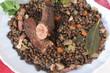 Lentilles aux petits légumes - Saucisse lardons