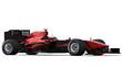 race car on white - black & red