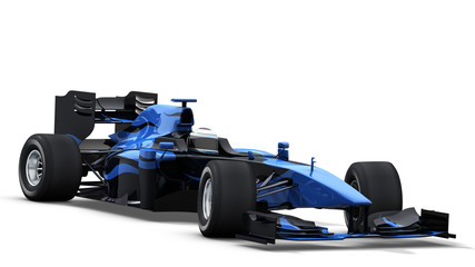 race car on white - black & blue