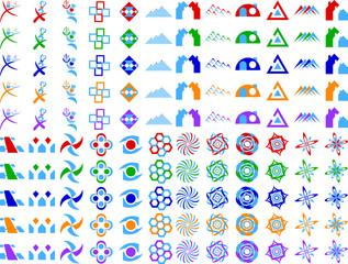 Abstract Vector Logo Icon Design Elements