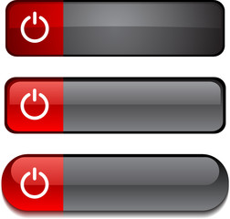 Switch  web buttons. Vector illustration.