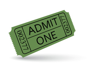 Green cinema ticket