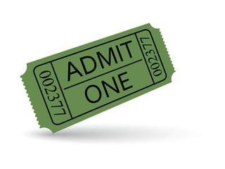 Green cinema ticket