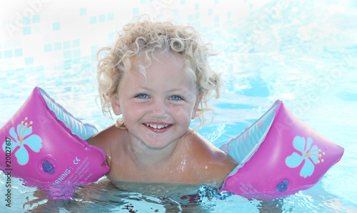 child swimming