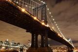 Manhattan Bridge At Night Lights, New York City - 20029892