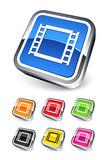 icône pellicule photo / bande vidéo / multimédia poster