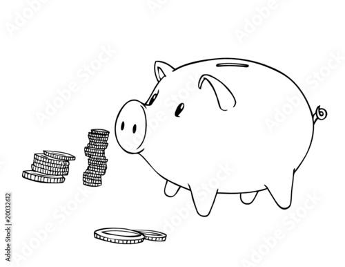 sparschwein sparen zinsen zins bank geld stockfotos und lizenzfreie vektoren auf fotolia. Black Bedroom Furniture Sets. Home Design Ideas