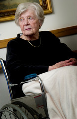 Senior woman in wheelchair
