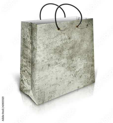 shopping bag with grunge background