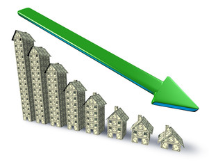 Real estate prices down