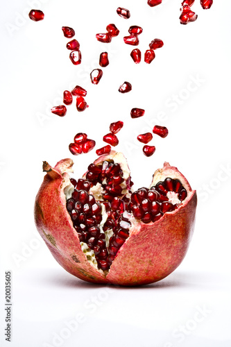 Ripe Pomegranate fruit, opened
