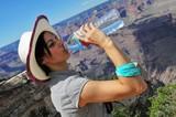 She drink in the desert