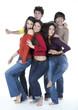 groupe de cinq jeunes groupe jeunesse
