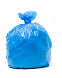Blue trash bag