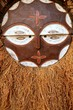 Quadro African ethnic wooden warrior shield