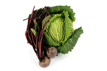 Cabbage and Beetroot