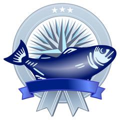 Wappen mit Fisch