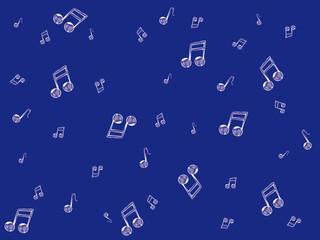 notes de musique fond bleu
