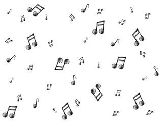 notes de musique fond blanc