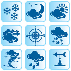 set of vector icons for weather theme