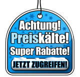 Achtung! Preiskälte! Super Rabatte! Icon, Button