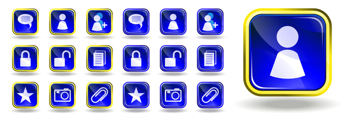 Messenger and blog icons set 2