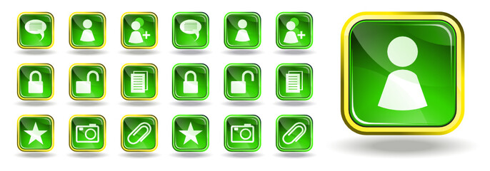 Messenger and blog icons set 4