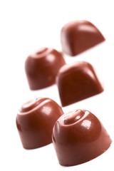 five chocolate sweets