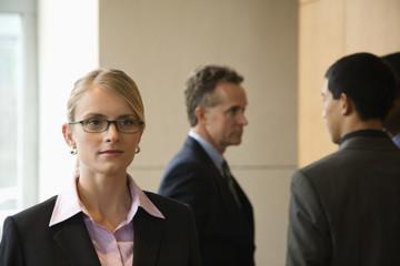 Businesswoman and Businessmen