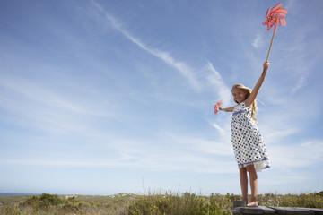 Little girl in the fields