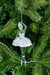 Beautiful Christmas tree toys transparent glass ballerina