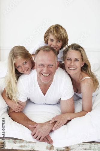 Beautiful family portrait