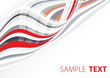 Abstract template with red and gray tapes. Vector