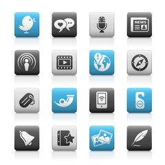 Matte Icons // Blog & New Media